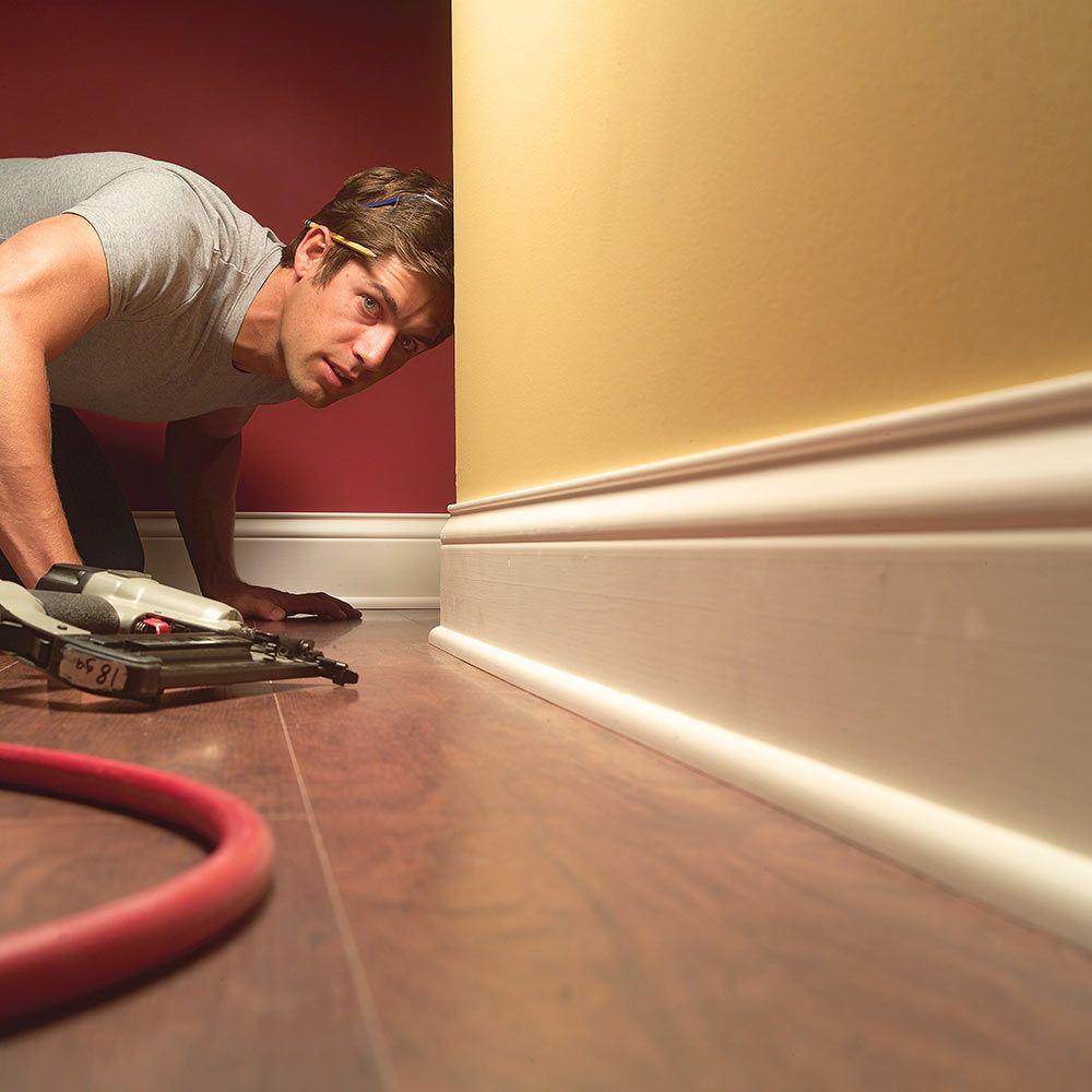 Flooring, Hardwood Floors, Tile Baseboard