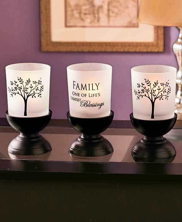 Family Tree Candle Garden 3 Pc Home Decor One of Lifes ...