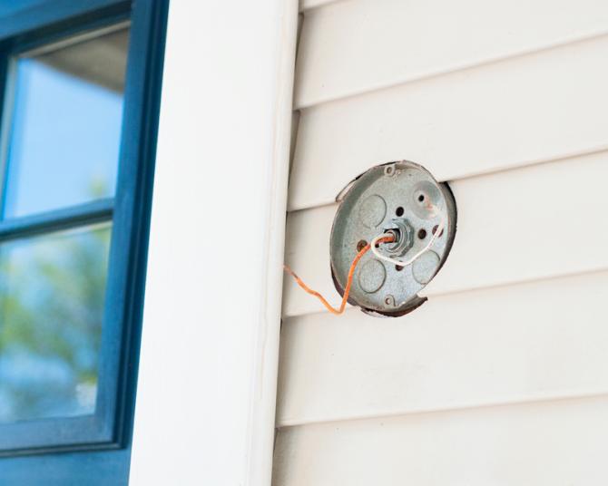 Install an Exterior Lighting Fixture Exterior light
