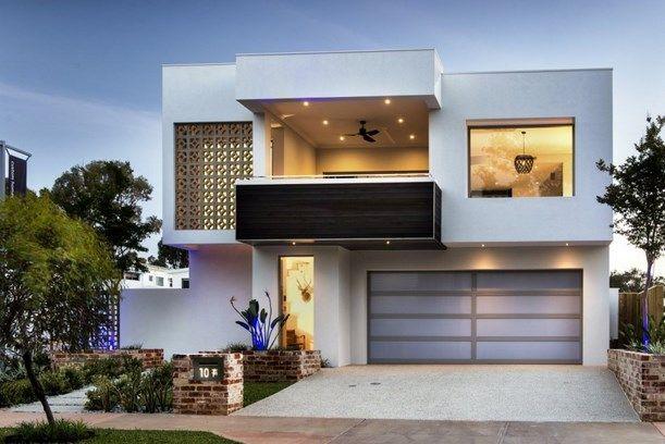 Fachadas de casas bonitas modernas de dos pisos simples for Disenos de casas chiquitas y bonitas