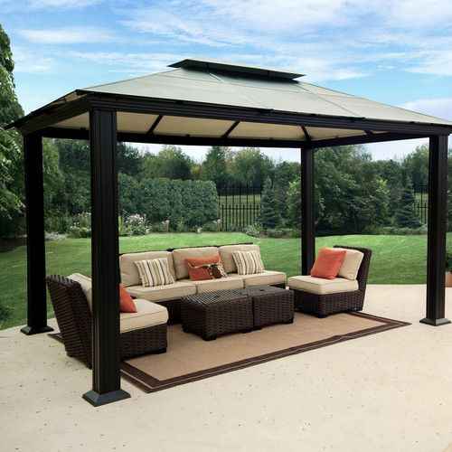 STC Monica Four Season 10 Ft. W x 13 Ft. D Aluminum Gazebo | Our ...
