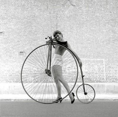 Frances Pidgeon Models A Bike Ken Russell Takes The Photo Penny