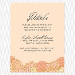 Enclosure Cards Wedding Website Map Directions Cash Bar Note