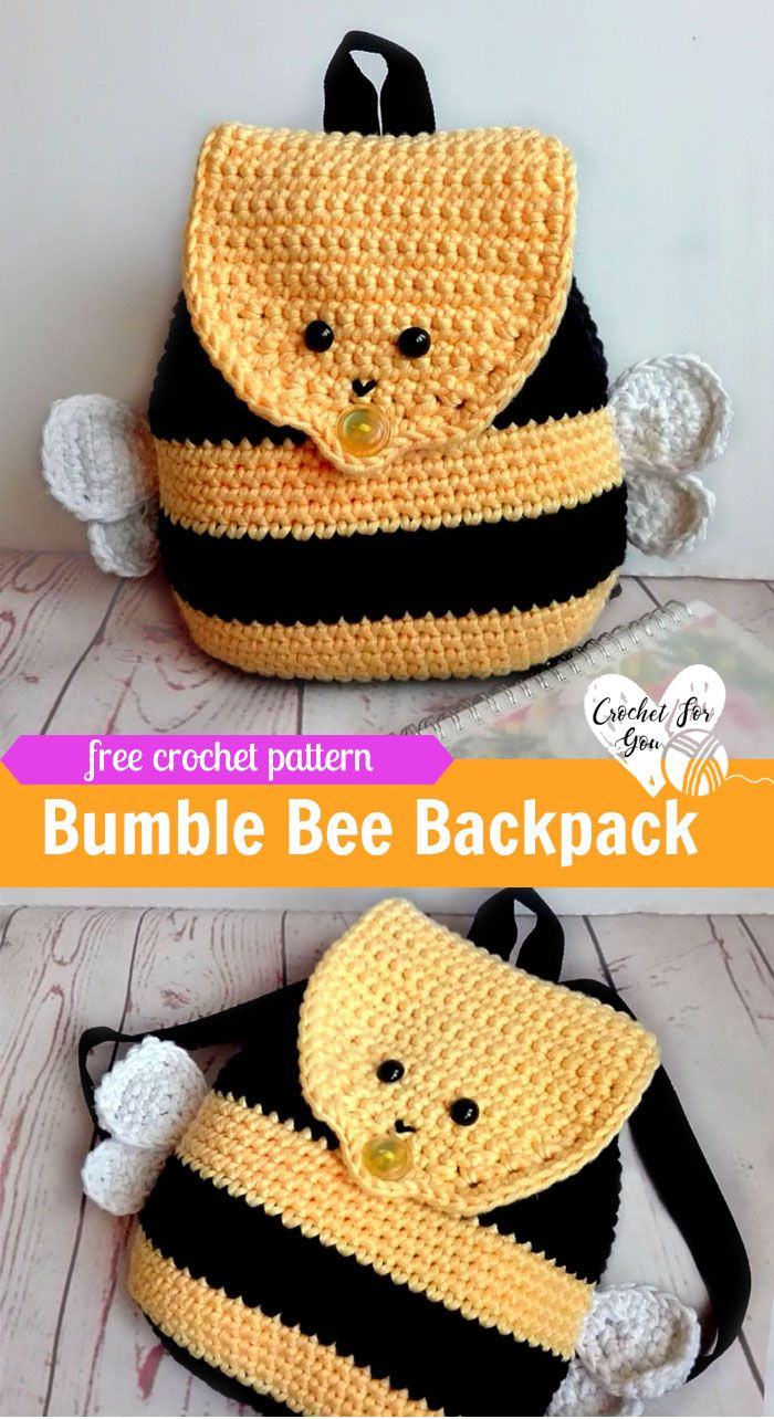 Crochet Bumble Bee Backpack Free Pattern | Pinterest | Puppe ...