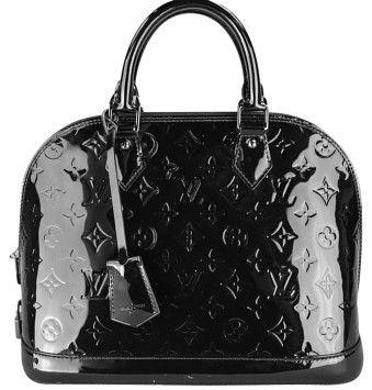 593fe172 Alma Pm Handbag M90061 Black Patent Leather Shoulder Bag | Louis ...