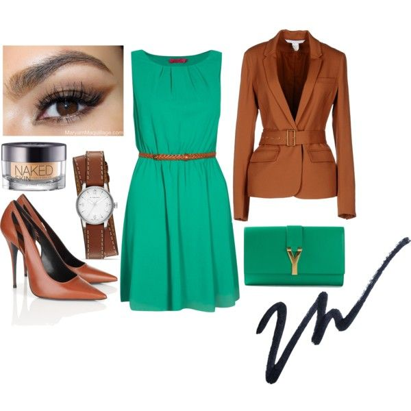 """""""Success in Brown and Green"""" by gweyn37 on Polyvore"""