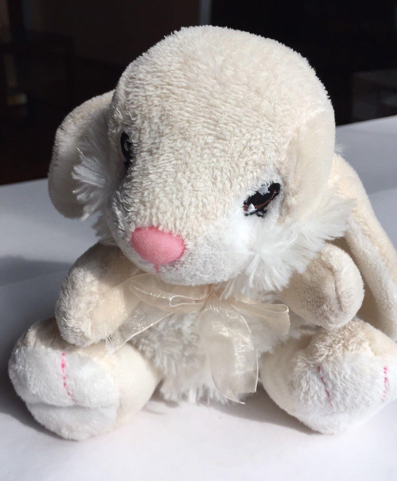 Dan Dee Bunny Rabbit Cream White 2010 Easter Plush Soft