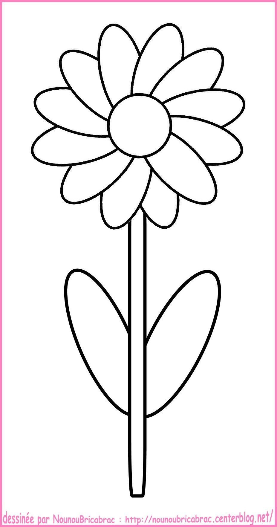 Coloriage Fleur Tps.Fleur Coloriage Simple Cicek Coloriage Printemps