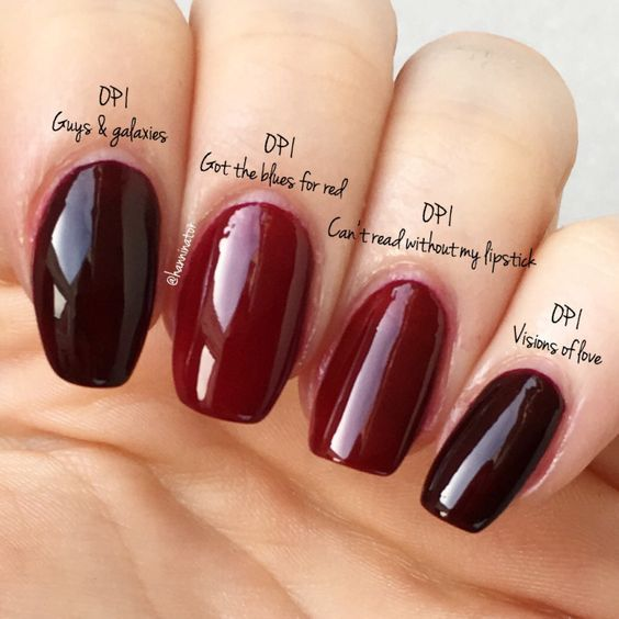 Opi I Can T Read Without My Lipstick Vs Got The Blues For Red Guys And Galaxies Visions Of Love