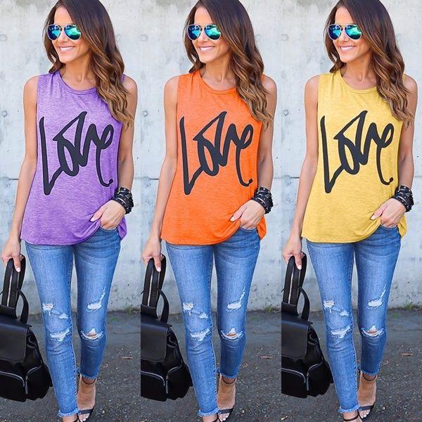 shirtsforwomen, Women Vest, Amor, letter print - 4