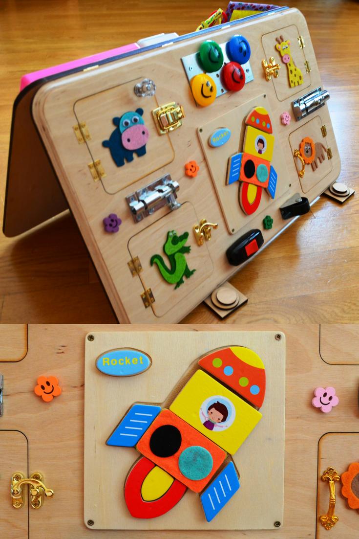Busy Board Activity Board Montessori Toys Wooden Toys Sensory