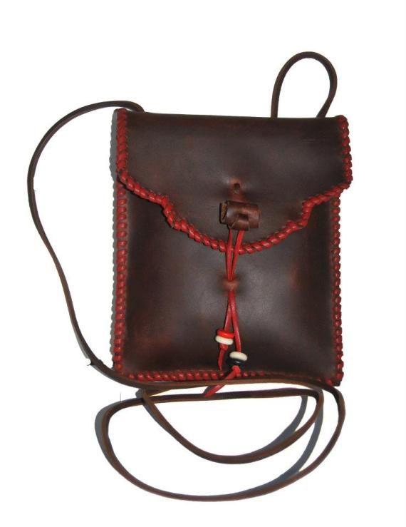 bolso de cuero artesanio
