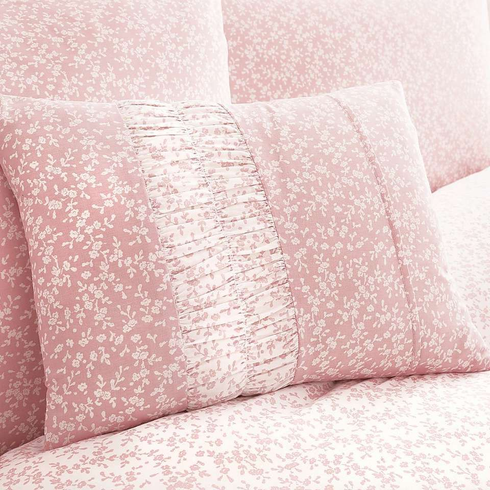 28212bfdd2f Annie Pink Reversible Duvet Cover and Pillowcase Set