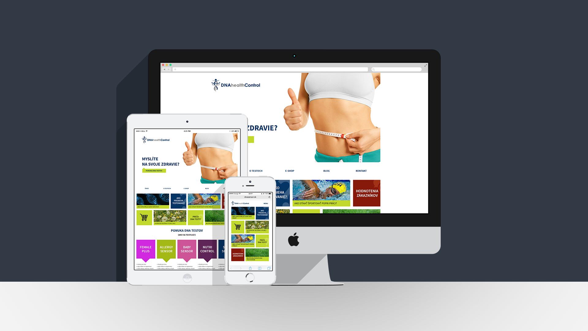 Wordpress internetová web stránka pre firmu DNA Sensor, ktorá sa zaoberá predajom dna testov. Viac nových projektov na www.maroszimnikoval.sk