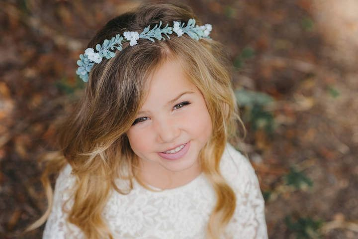 Etsy babys breath flower crown flower girl flower crown