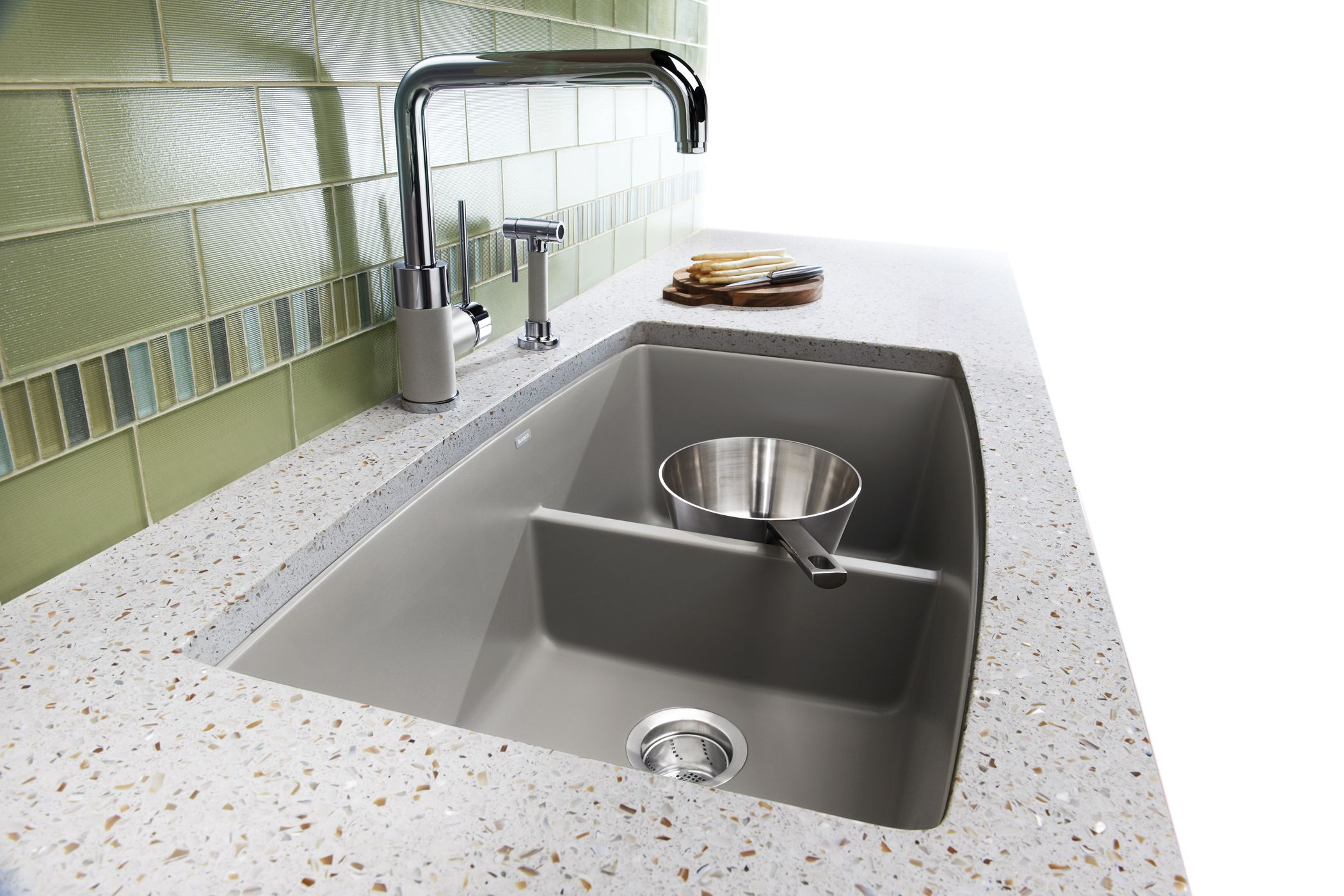 Performa Low Divide Kitchen Sink Blancoamerica