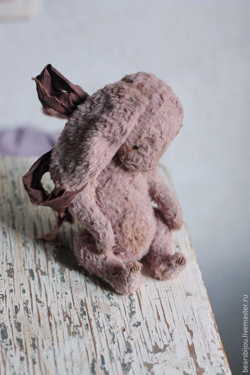 Купить Зайка - бледно-розовый, зайка, зайчик, тедди, тедди зайка купить, пепельно-розовый