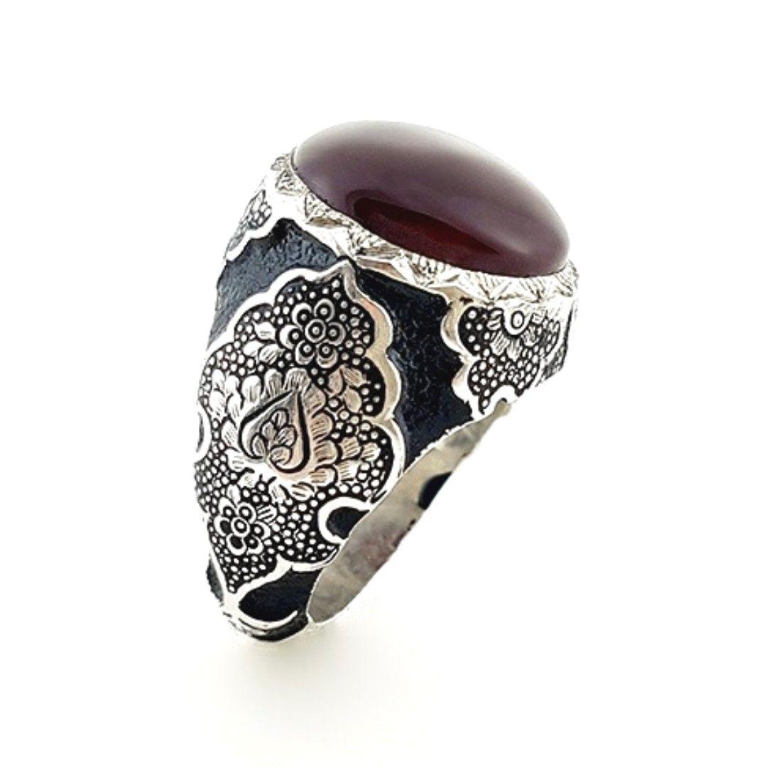انگشتر دست ساز عقیق یمنی خاص کد R191 Mens Jewelry Men S Rings Stuff To Buy