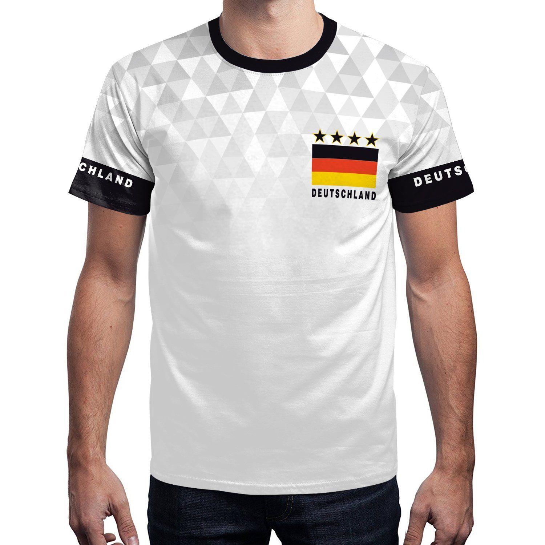 Herren DEUTSCHLAND Fußball Fan Shirt WM 2018 Bedrucktes Team