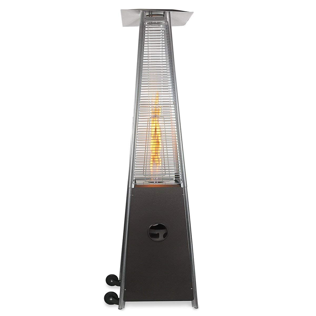 Barton patio heater quartz glass tube hammered bronze fireplaces