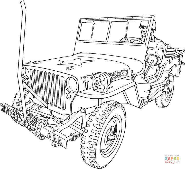 Army Vehicles Coloring Pages | Dessin militaire, Coloriage ...