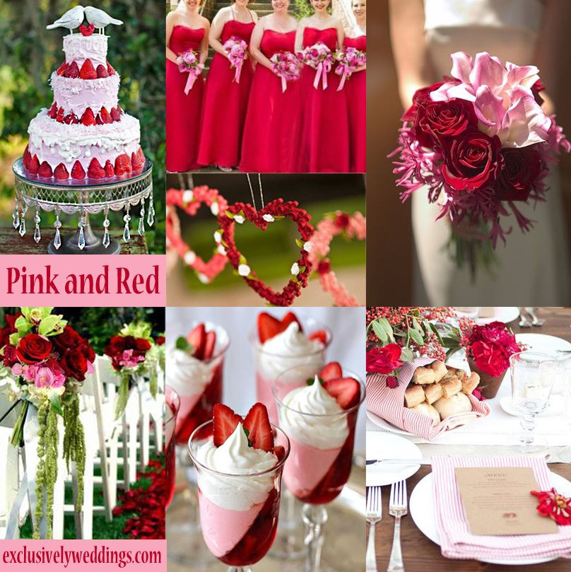 Red wedding color seven vibrant combinations red wedding pink and red wedding colors shop pink red junglespirit Gallery