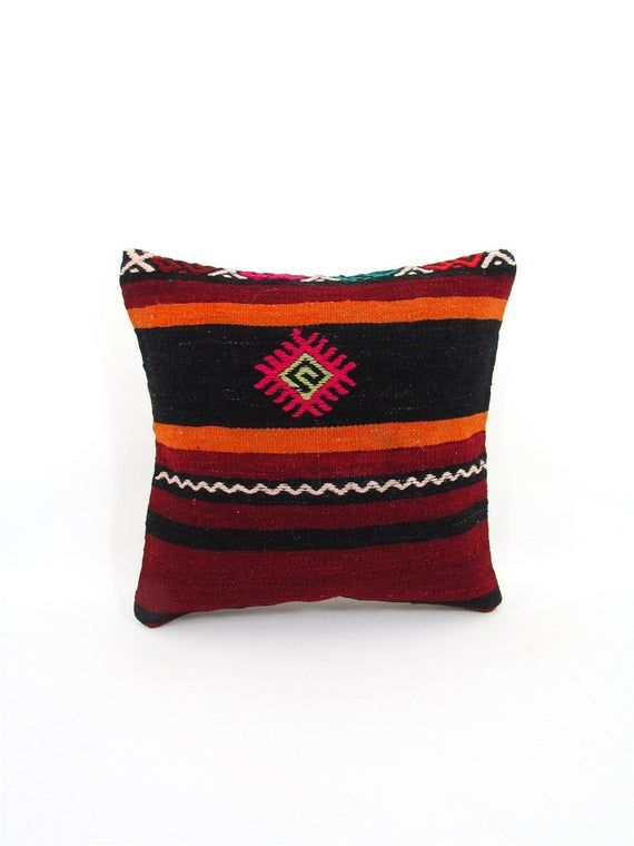 Sofa Cushion Cover Couch Pillow Case Farmhouse Pillow Cover mothers day gift for mom Throw Pillow Kilim Pillow Cover 16x16 Boho Decor