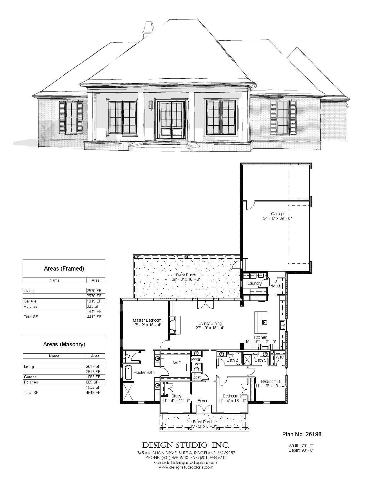 Plan 26198 Design Studio Design Studio How To Plan House Plans