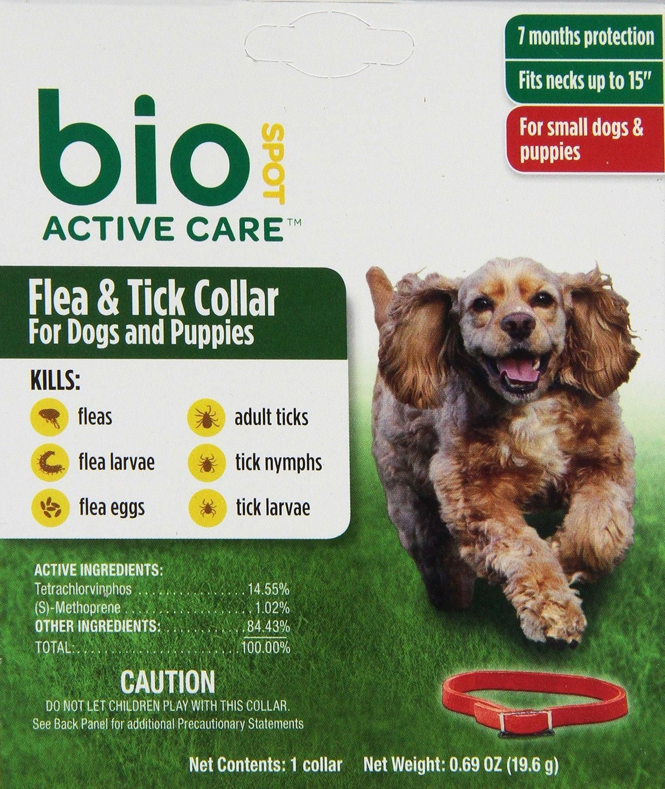 Biospot Active Care Flea And Tick Collar For Small Dogs 15 Inch
