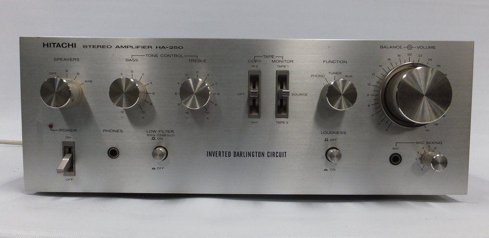 Hitachi HA-250 Stereo Amplifier (Inverted Darlington circuit