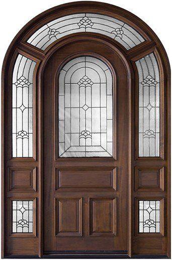 Americano arqueado lujo puertas exteriores estilo dj for Catalogo de puertas de madera pdf