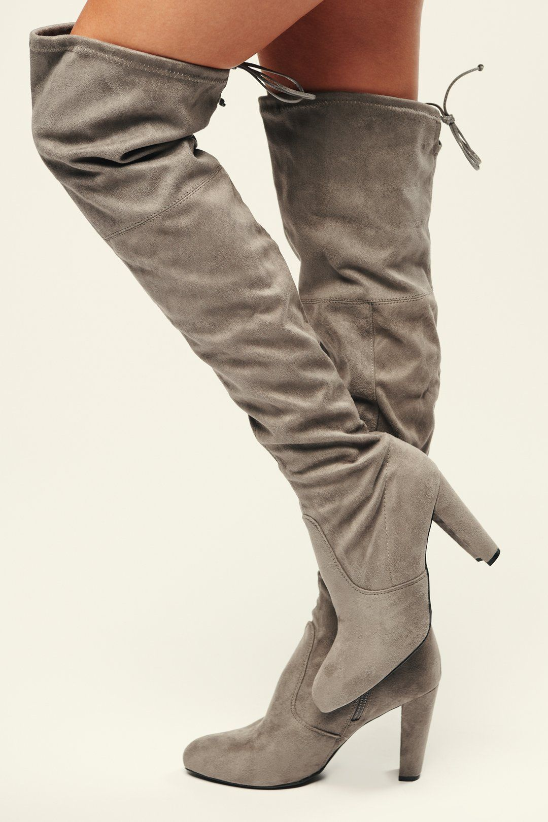 Call Me Faux Suede Thigh High Boots Grey Faux Suede Thigh High Boots Thigh High Suede Boots Thigh High Boots