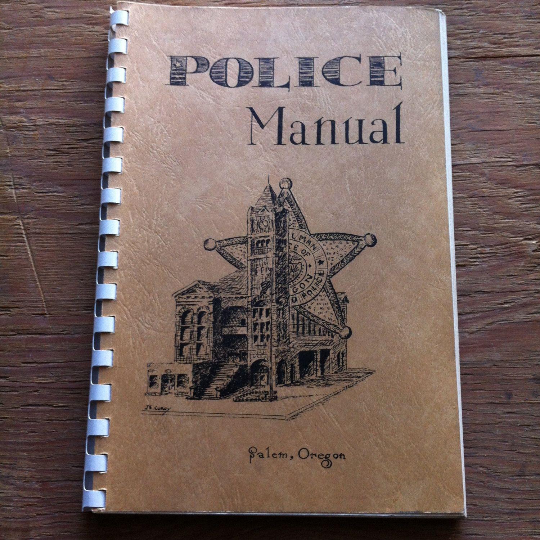 cover letter law enforcement%0A      Salem  Oregon Police Manual Vintage Book Law Enforcement Department  Officer Procedure Evidence Firearms by