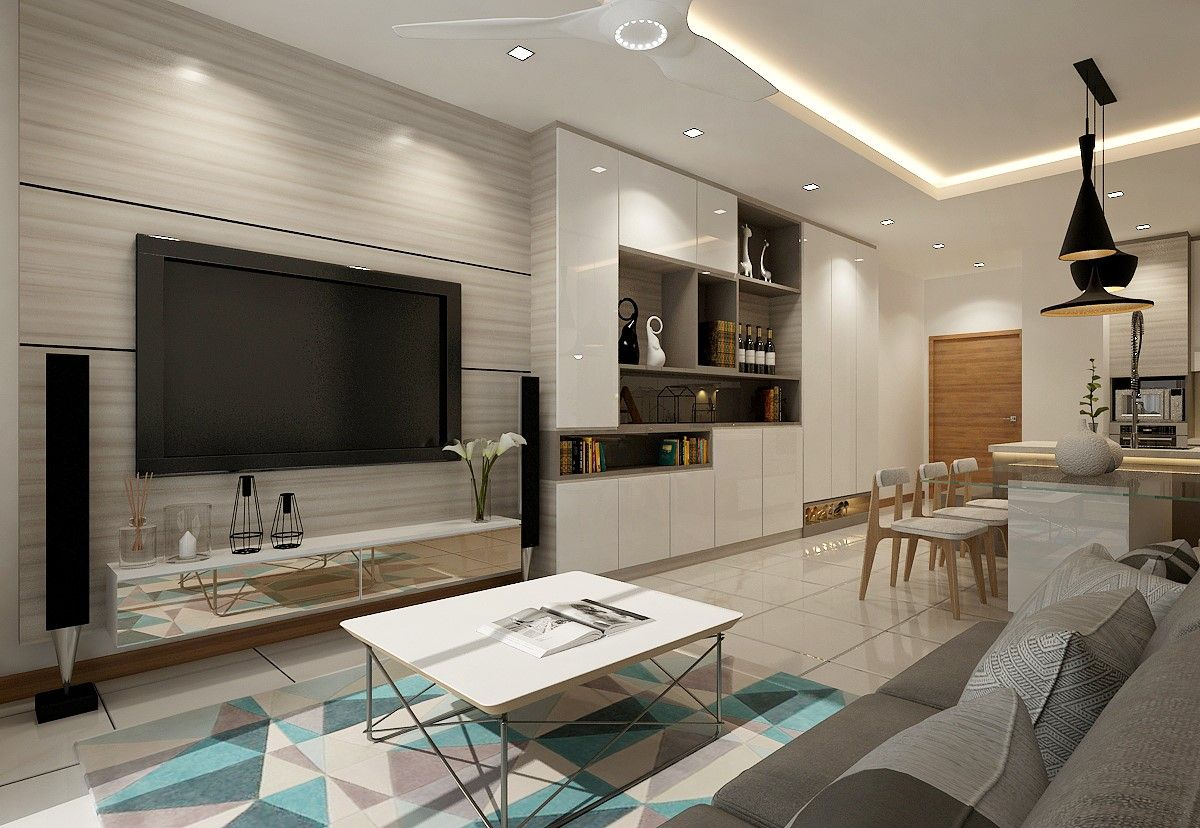 Residential Interior Design Renovation Contractor Singapore Hdb Renovation Contractor In Condo Living Room Apartment Interior Design Living Room Renovation