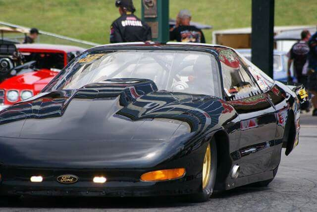 Dan Saitz 1997 Ford Probe By Jerry Haas 400 Small Block Ford Twin 88mm Precision Turbos Lenco 5 Speed Aft Clutch Ford Probe Drag Racing Drag Racer