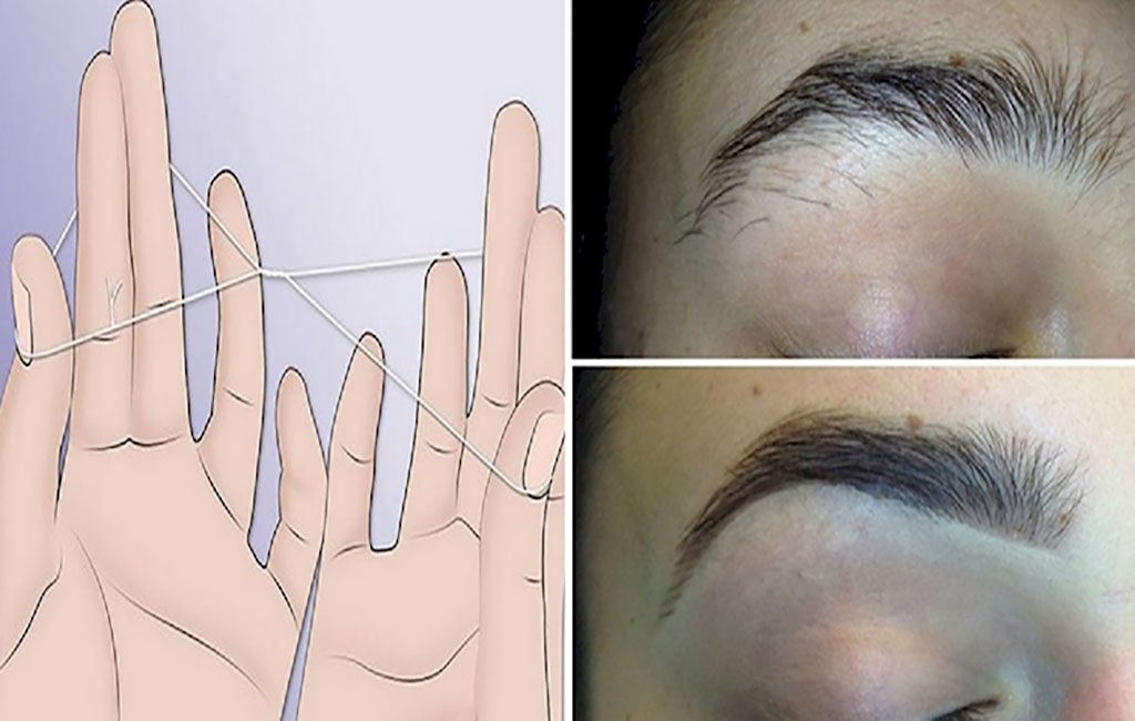 Here Is The Way To Thread Your Eyebrows Without Tweezers In Less