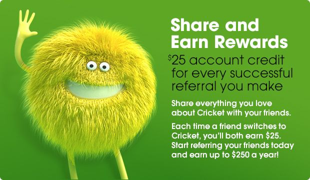 Cricket Wireless Refer A Friend Both Of You Earn 25 00