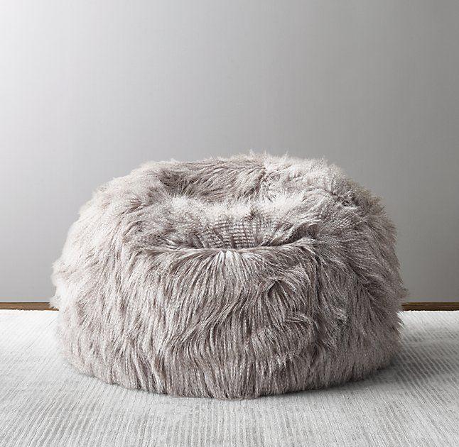Luxe Faux Fur Bean Bag