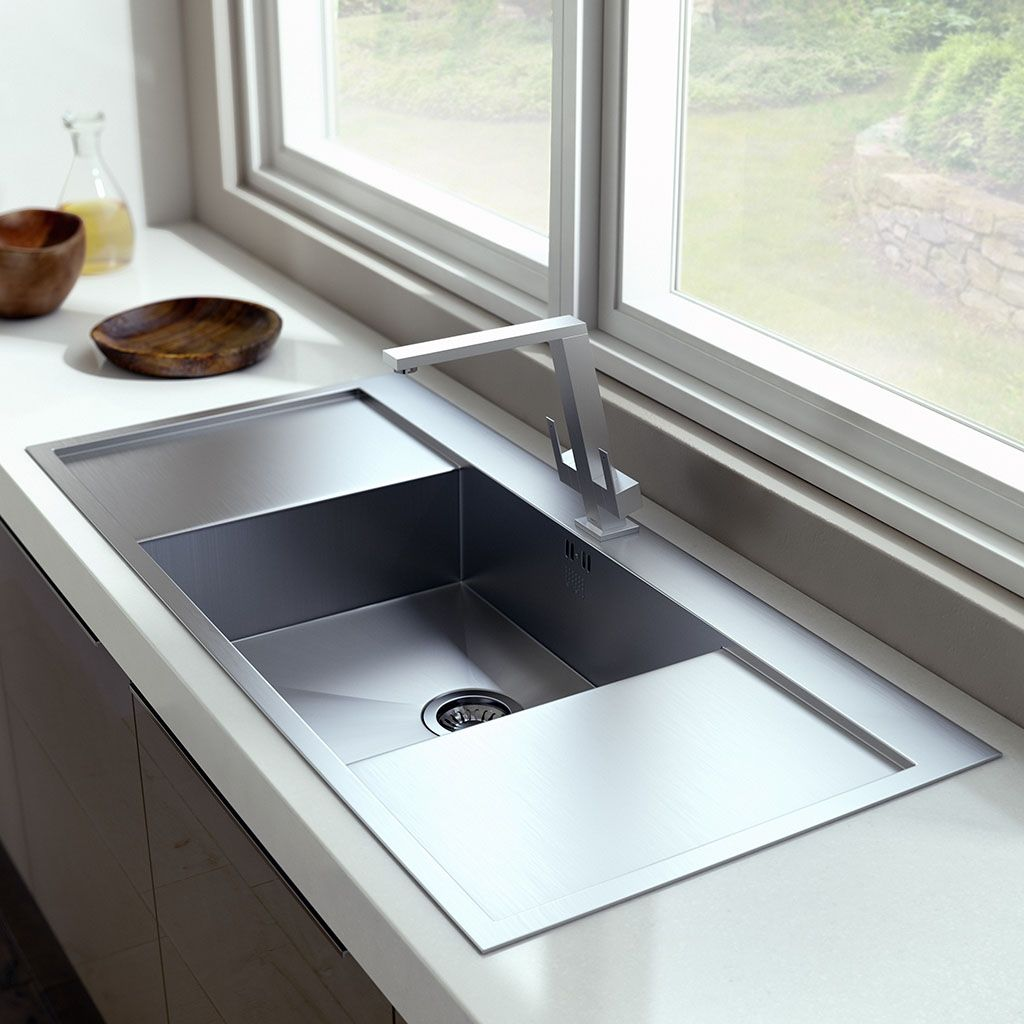 Extra Large Double Drainer With Kitchen Sink