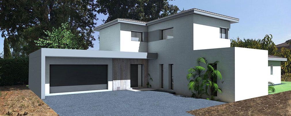 Atelier Scenario Architectes Maison Contemporaine A Etage Partiel Couverte Par Des Toitures En Tuiles Noire Maison Contemporaine Tuile Noire Maison