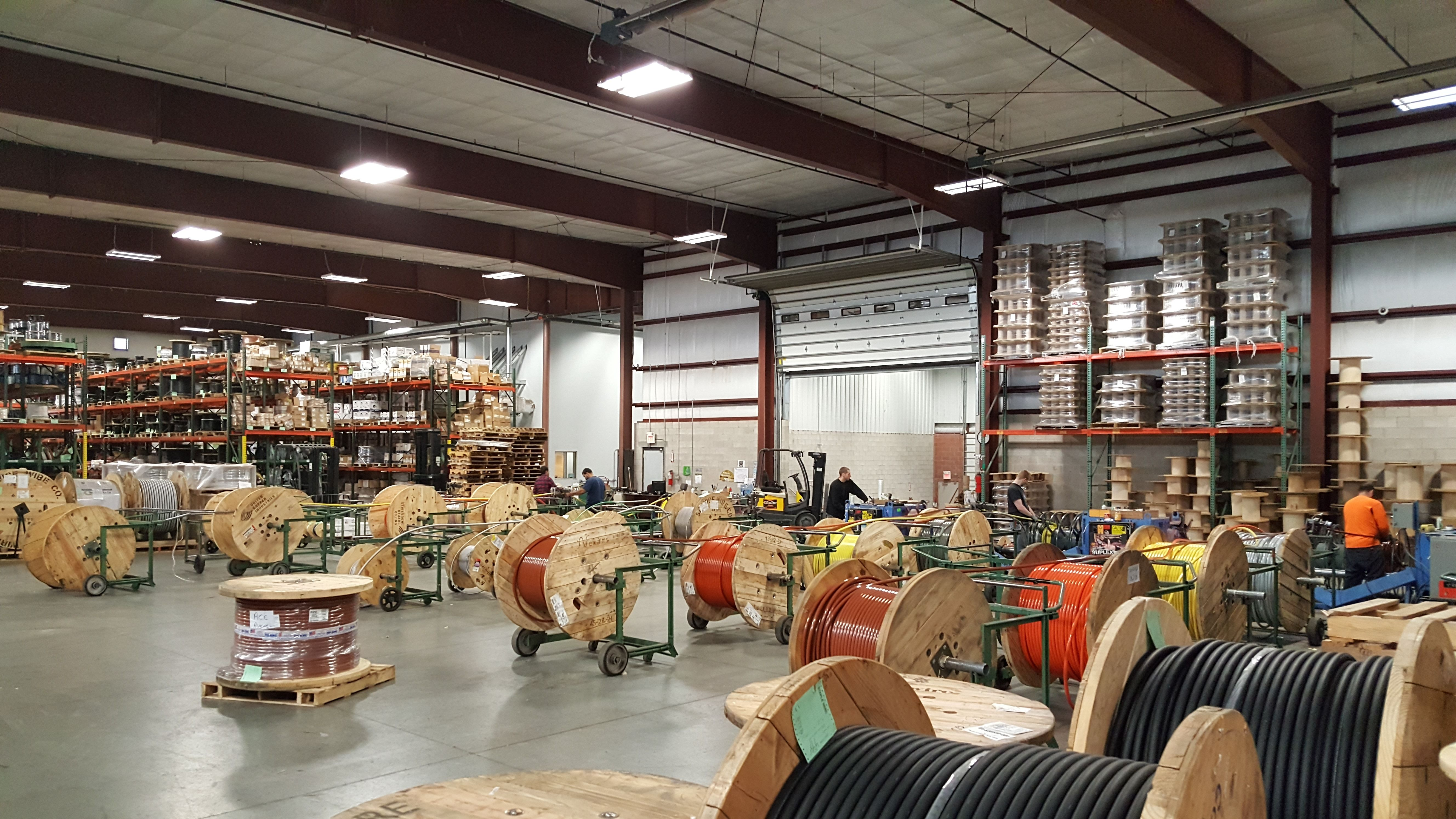 Winter weather isn't going to slow us down! Keep on cuttin'! #wirecutting #ace #acewire #cable #reels #parallels #wire
