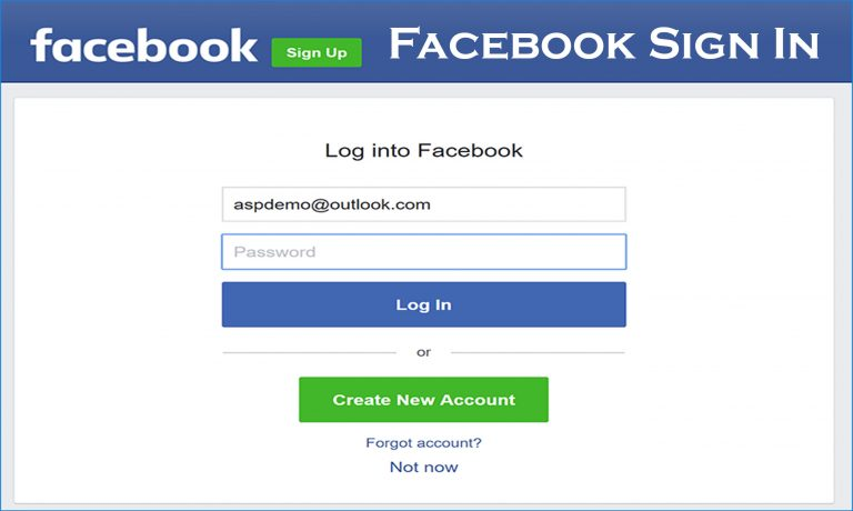 Facebook Sign In Facebook Log In (With images