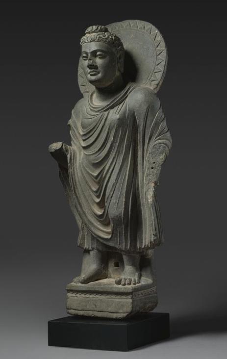 Buddha. Gray Schist. Ancient Region of Gandhara, Kushan Period. | Sotheby's