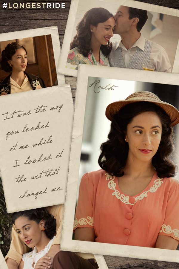 After moving across the world, Ruth found love in the least likely place. See Oona Chaplin in The Longest Ride this April.