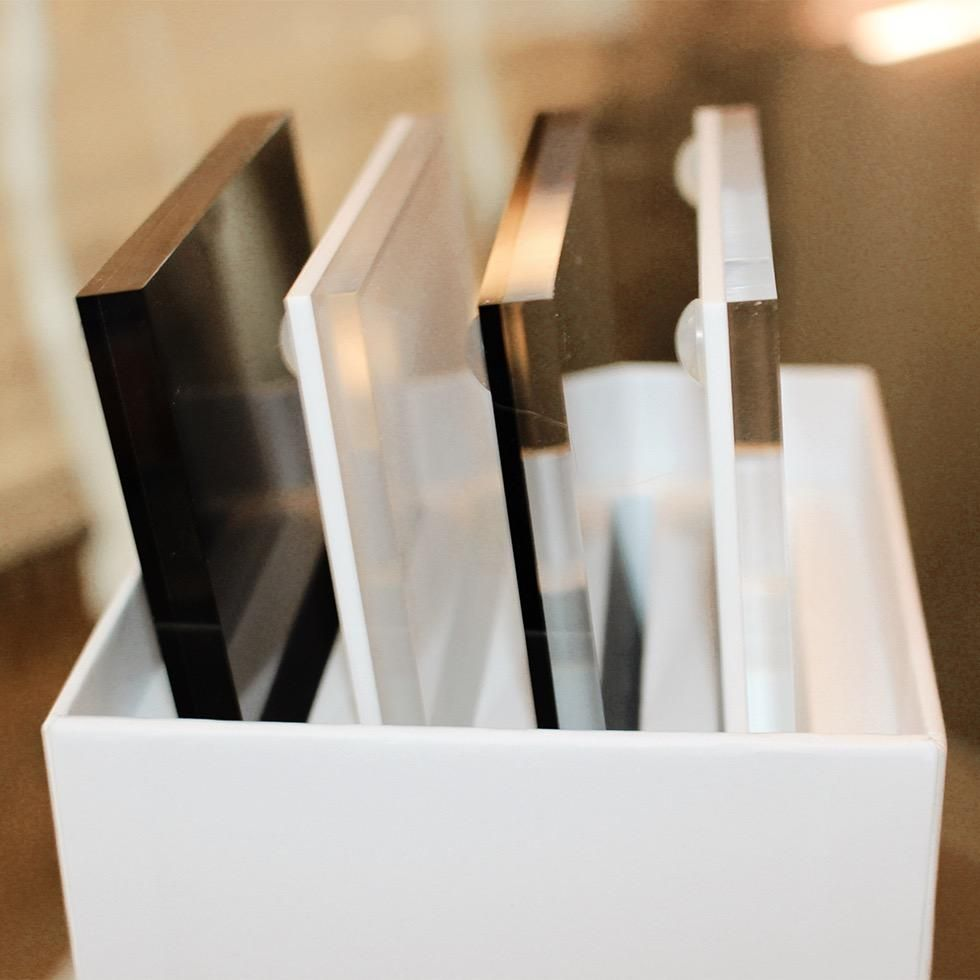Hampton White Acrylic Coaster Set