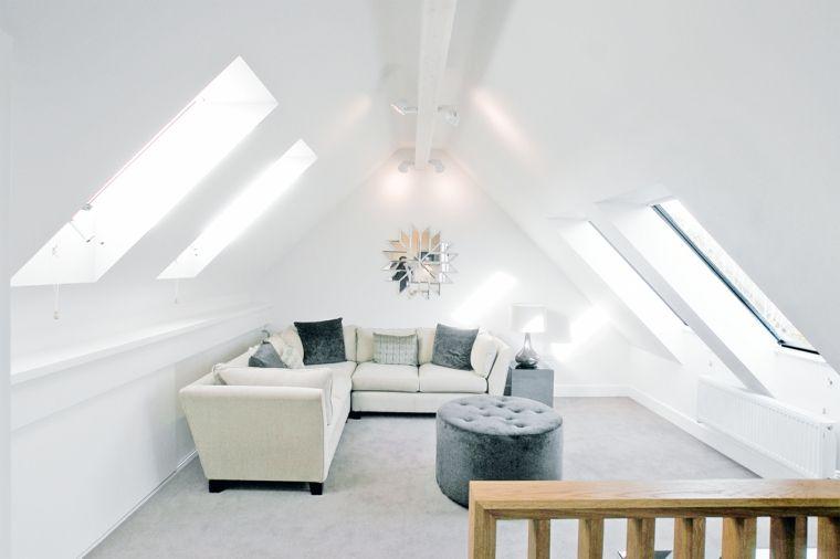 Pavimento Bianco Grigio : Pareti e pavimento bianchi divano angolare bianco con cuscini