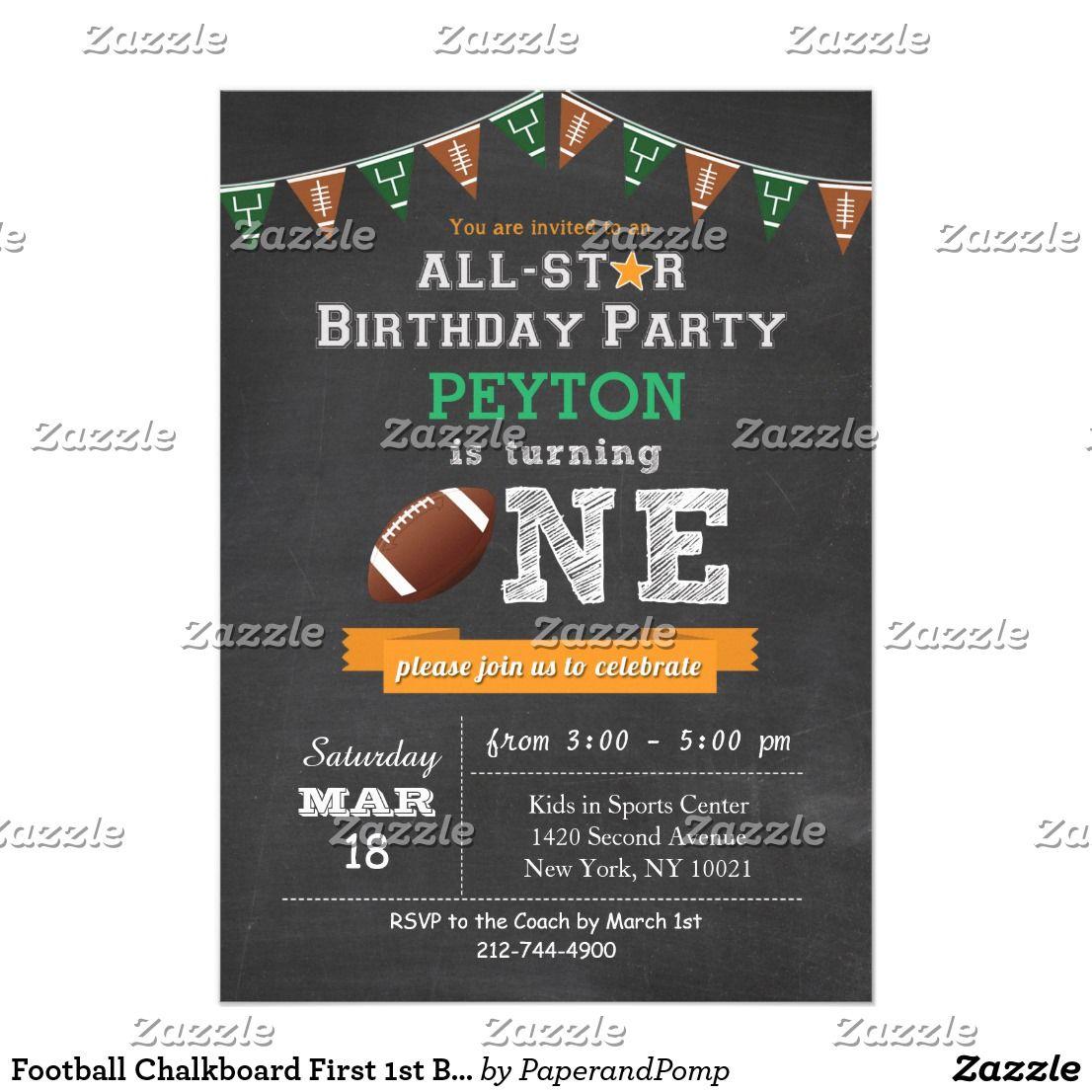 Fancy Football Birthday Party Invitation Frieze - Invitations Design ...