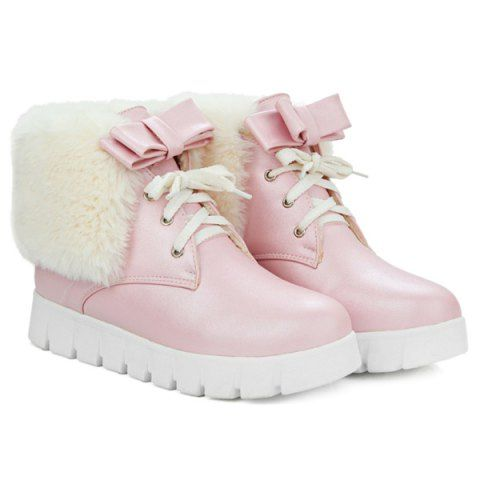 GET $50 NOW | Join RoseGal: Get YOUR $50 NOW!http://www.rosegal.com/boots/faux-fur-bow-increased-internal-930975.html?seid=2275071rg930975