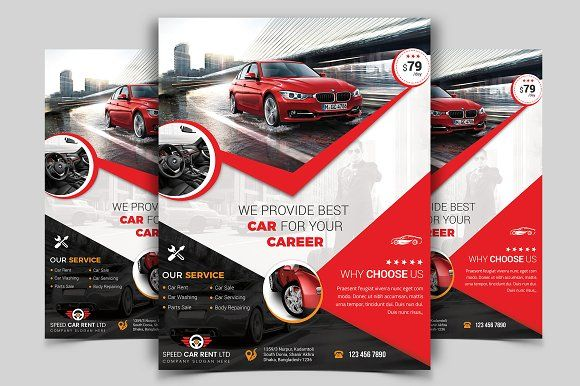 Rent A Car Flyer Template Vol 03 Flyer Template Business Flyers