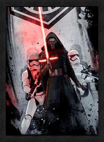 Affiche Sous Cadre STAR WARS - Kylo Ren www.rockagogo.com